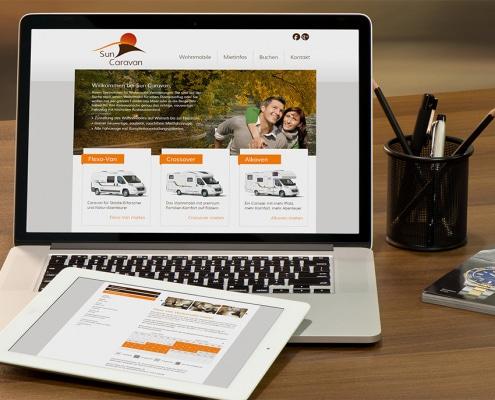 Sun Caravan Webseite